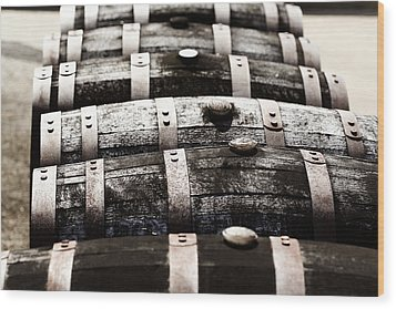 Kentucky Bourbon Barrels Wood Print by Robert Glover