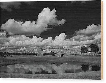 Kentucky Clouds Wood Print by Keith Bridgman