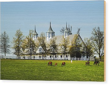 Revised Kentucky Horse Barn Hotel 2 Wood Print