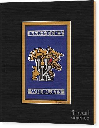 Ky Wildcats Logo T-shirt Wood Print
