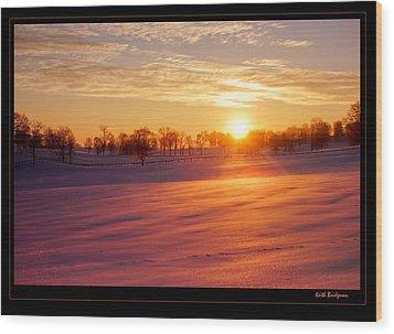 Kentucky Winter Sunrise Wood Print by Keith Bridgman