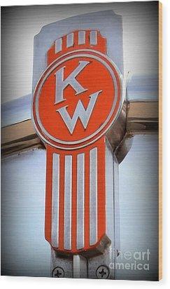 Kenworth Insignia Wood Print