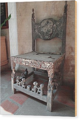 Kenyan African Antique Carved Chair Wood Print