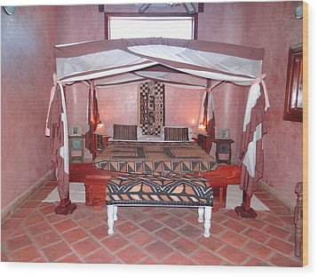 Kenyan African Traditional Double Bed Wood Print