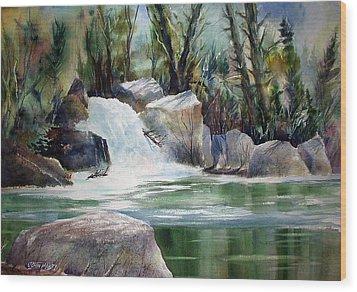 Kern River Light Wood Print