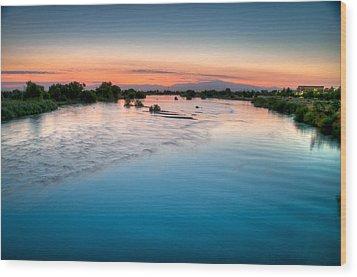 Kern River Sunrise Wood Print