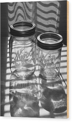 Kerr Jars Wood Print by Steve Augustin