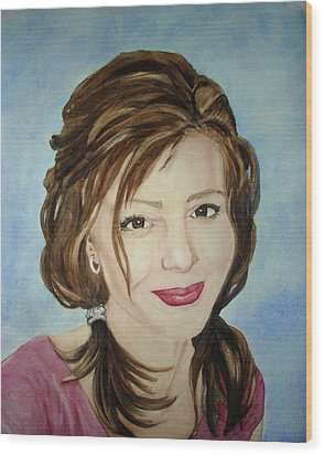 Kerra Lindsey  Self Portrait Wood Print by Kerra Lindsey