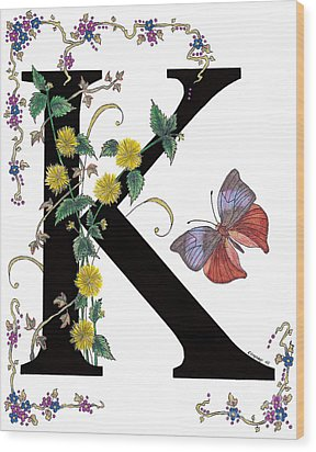 Kerria Japonica And Koh-i-noor Butterfly Wood Print by Stanza Widen