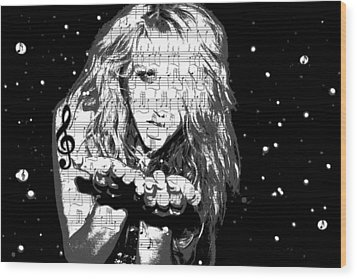 Kesha Wood Print by Brad Scott