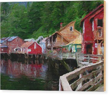 Ketchikan Alaska Wood Print by David Hansen