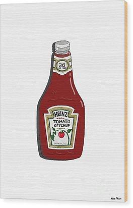 Ketchup Wood Print by George Pedro