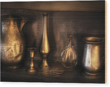 Kettle - Ready For A Drink Wood Print by Mike Savad