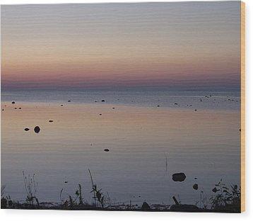 Kettle Point Sunset Wood Print