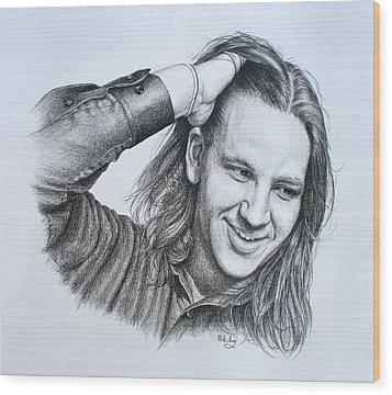 Kevin Daniel Yates Wood Print by Mike Ivey