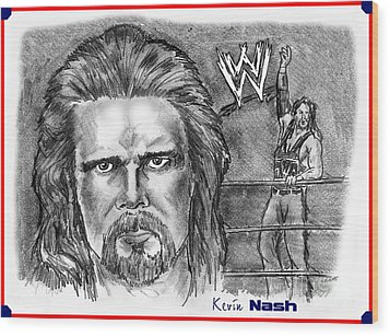 Kevin Nash Outsider Wood Print by Chris  DelVecchio