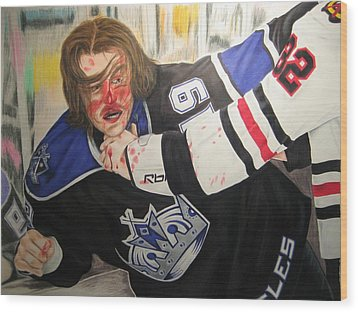 Kevin Westgarth And John Scott Wood Print by Brian Schuster