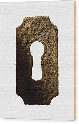 Key Hole Wood Print by Tony Cordoza