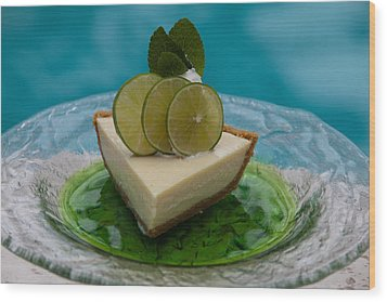Key Lime Pie 25 Wood Print