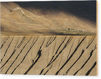 Wood Print featuring the photograph Key Monastery And Spiti Valley, Spiti, 2008 by Hitendra SINKAR