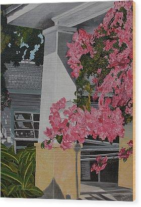 Key West Bougainvillea Wood Print by John Schuller