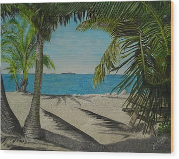 Key West Clearing Wood Print by John Schuller