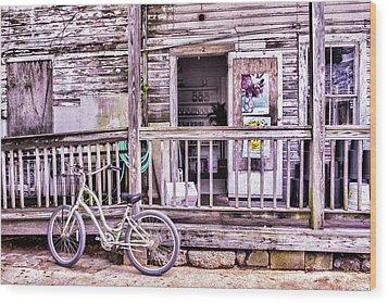 Key West Flower Shop Wood Print
