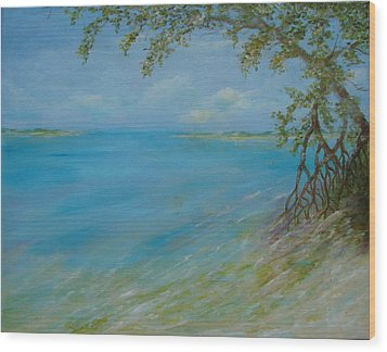 Key West Hanging Out Wood Print by Phyllis OShields