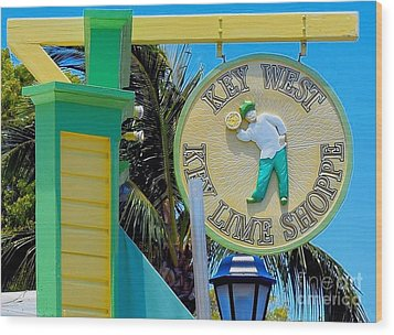 Key West Key Lime Shoppe Wood Print