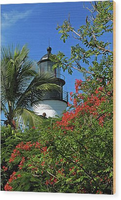 Key West Lighthouse Wood Print by Frank Mari