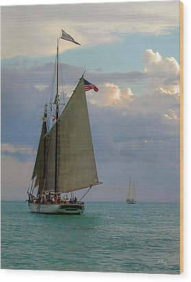 Wood Print featuring the photograph Key West Sail by Gordon Beck