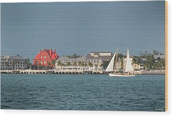 Key West Shoreline Wood Print by Frank Mari