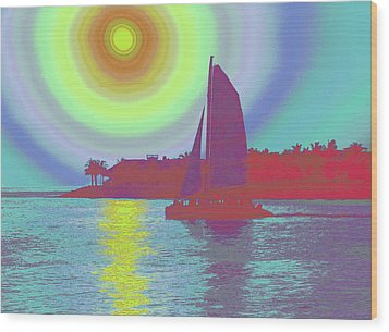 Key West Sun Wood Print by Steven Sparks