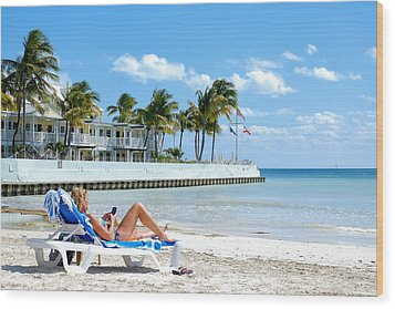 Key West Sunbather Wood Print