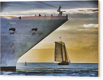 Key West Sunset Sail Wood Print by Dennis Cox WorldViews