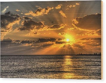 Key West Sunset Wood Print by Shawn Everhart