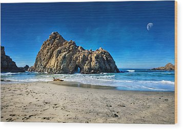 Wood Print featuring the photograph Keyhole Rock At Pheiffer Beach #14 - Big Sur, Ca by Jennifer Rondinelli Reilly - Fine Art Photography