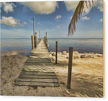 Keys Dock Wood Print by Don Durfee