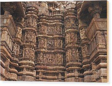 Khajuraho Temples 2 Wood Print