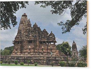 Khajuraho Temples 4 Wood Print