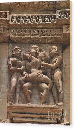 Khajuraho Temples 5 Wood Print
