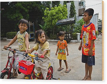 Khmer Kids Wood Print