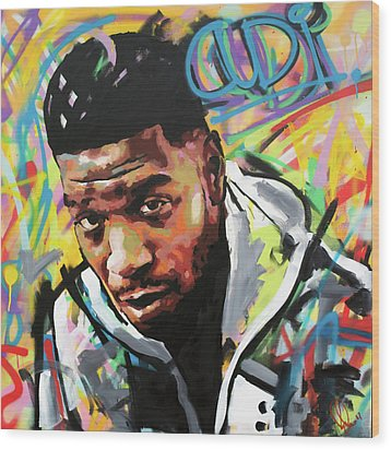 Wood Print featuring the painting Kid Cudi by Richard Day