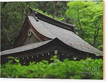 Kifune Shrine Wood Print by Stevyn Llewellyn
