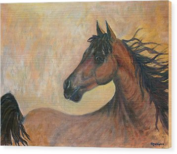 Kiger Mustang Wood Print by Ben Kiger