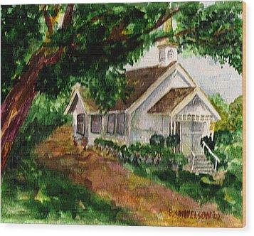 Kihei Chapel Wood Print by Eric Samuelson