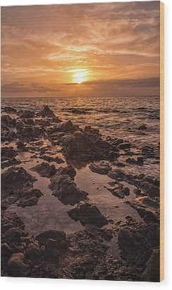 Kihei Sunset 2 - Maui Hawaii Wood Print by Brian Harig