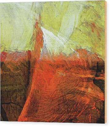 Wood Print featuring the painting Kilauea by Dominic Piperata