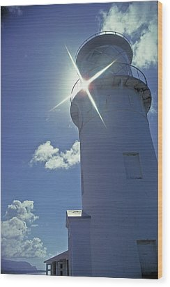 Wood Print featuring the photograph Kilauea Lighthouse by Marie Hicks