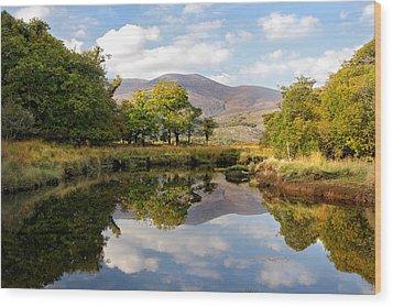 Killarney Lake Reflection Ireland Wood Print by Pierre Leclerc Photography